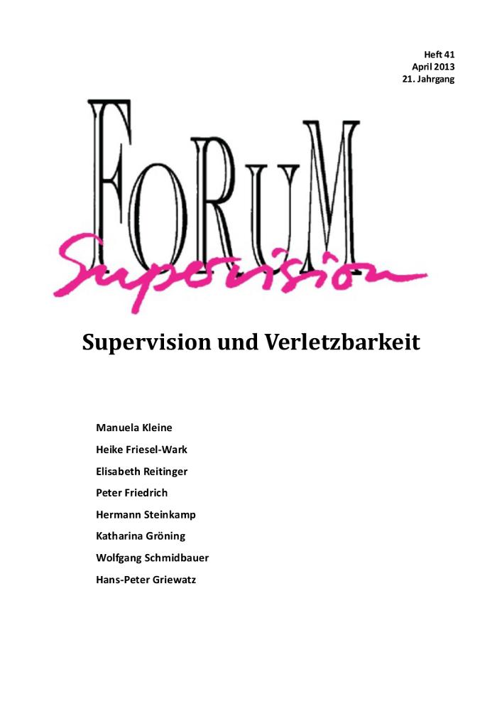Ansehen 2013: Heft 41 - Supervision und Verletzbarkeit