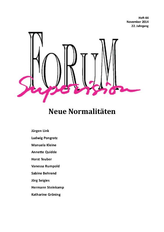 Ansehen 2014: Heft 44 - Neue Normalitäten