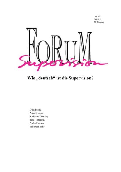 """Ansehen 2019: Heft 53 - Wie """"deutsch"""" ist die Supervision?"""
