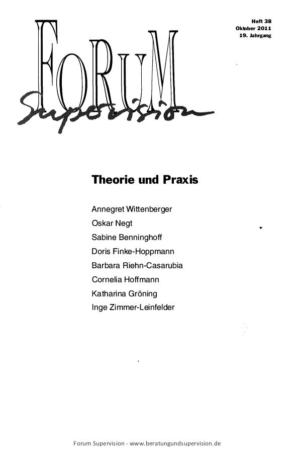 Ansehen 2011: Heft 38 - Theorie und Praxis